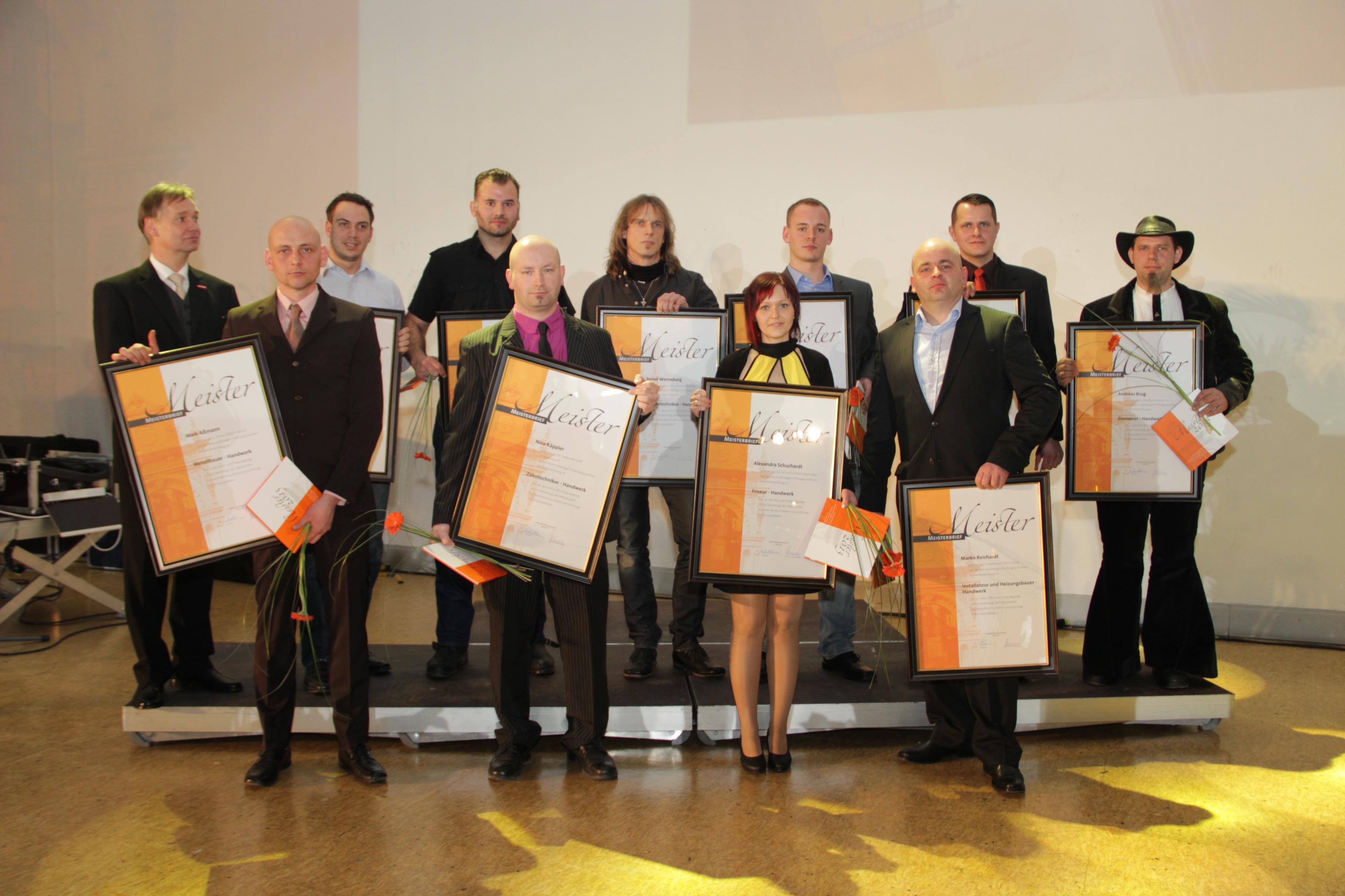 Die Besten Meister aller Gewerke auf der Lossprechungsfeier am 02.03.2013 in Erfurt