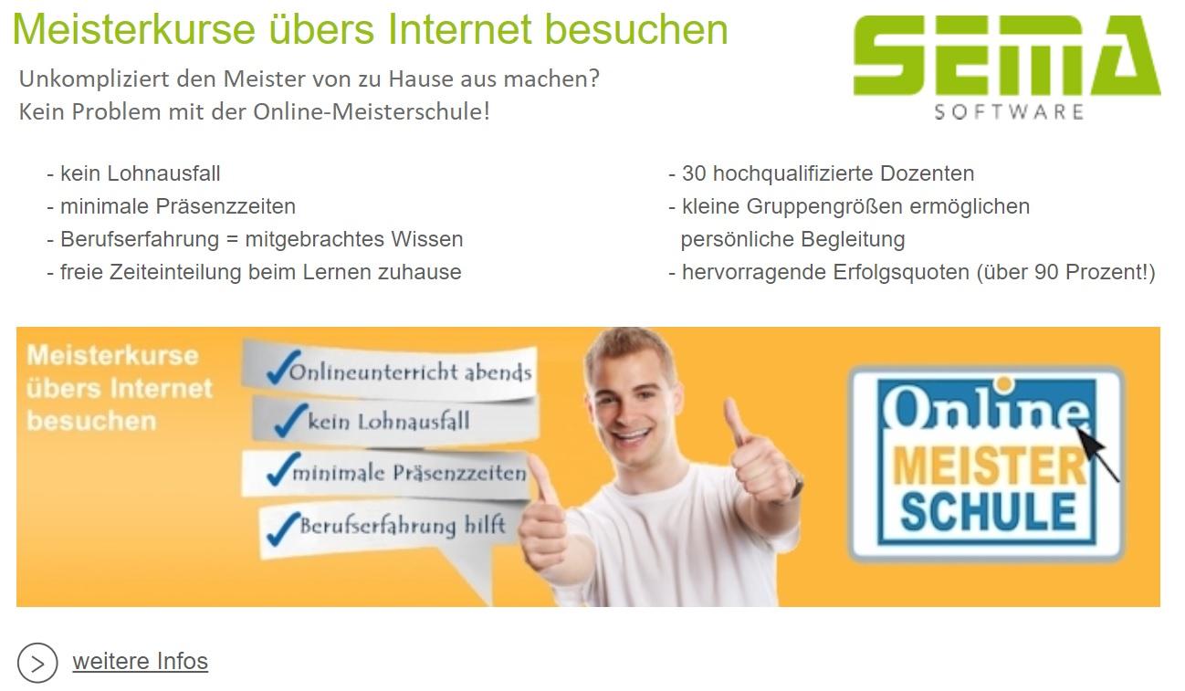 Online Meisterkurs Zimmerer mit SEMA